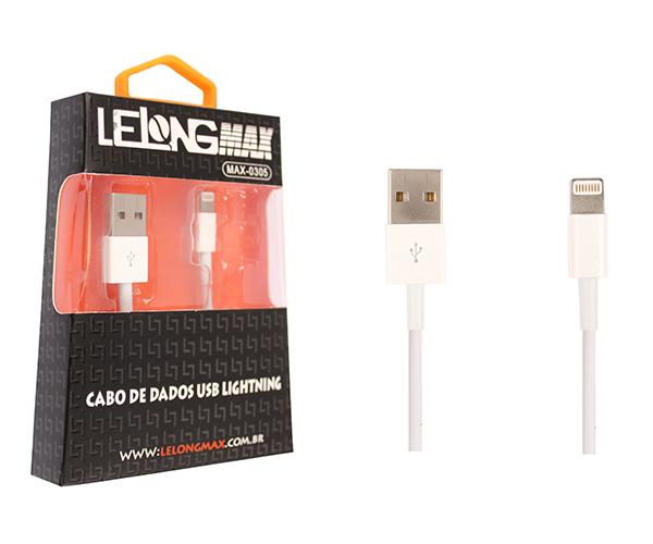Cabo de Dados e Carregamento Lightning USB Iphone 5, 6 e 7  - Northshop