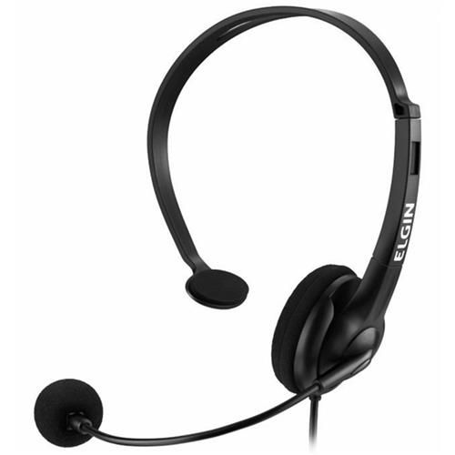 Headphone com Conector RJ - Preto – Elgin   - Northshop