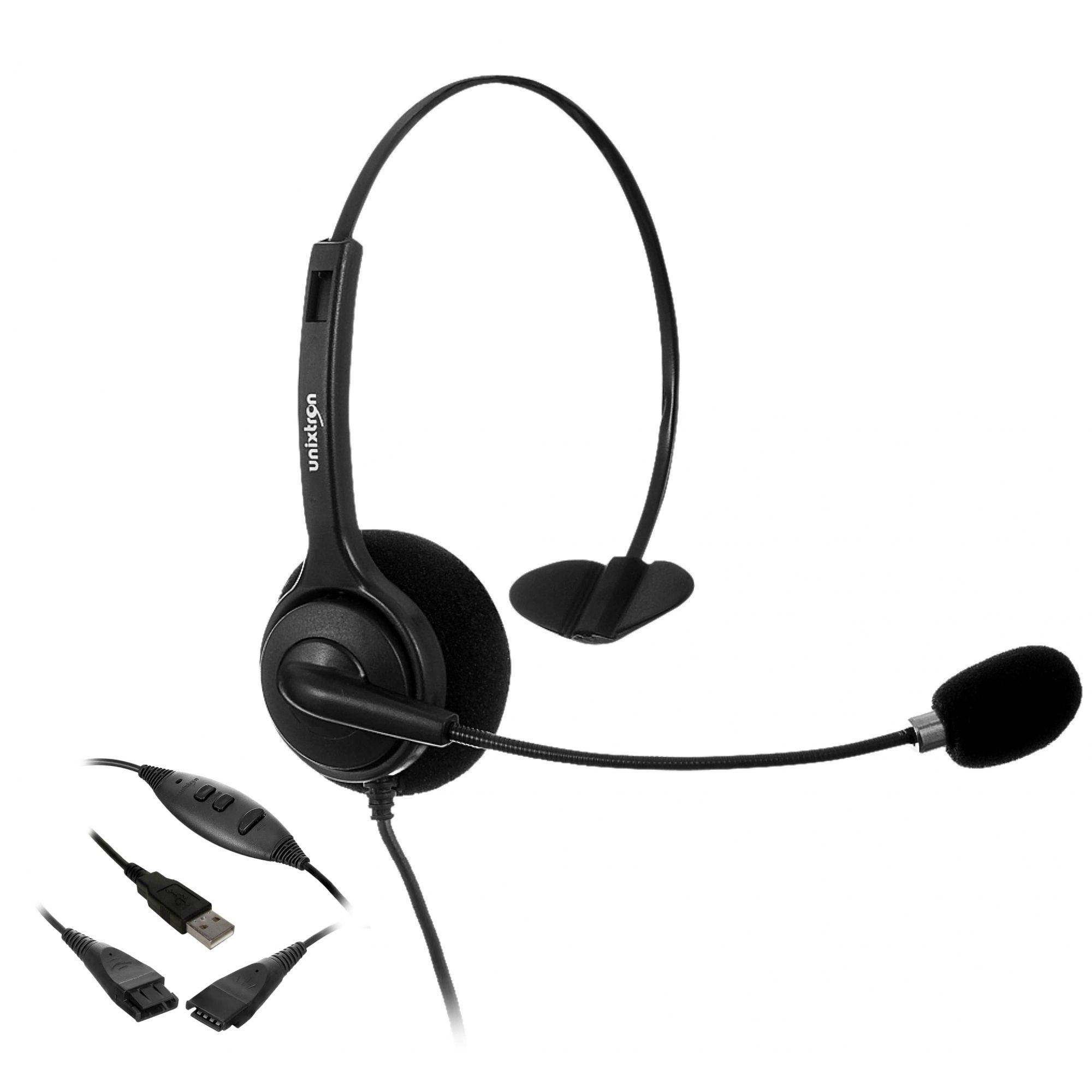 Headset Unixtron - HD800 Flex QD Usb para Desktop  - Northshop São Paulo