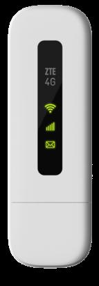 Mini Modem ZTE USB 4G - MF79S - Wi-Fi - Branco - Desbloqueado/Pronto para chip - Wi-Fi Veicular - Ônibus - Vans - Lanchas   - Northshop