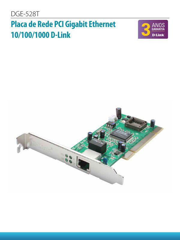 Placa de Rede PCI Gigabyte Ethernet 10/100/1000 - DGT 528T  - Northshop São Paulo