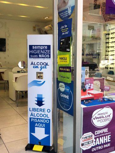 Totem Dispenser Álcool em Gel  pedaleira - No Touch - Sem Adesivo  - Northshop São Paulo