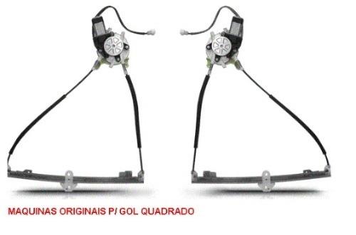 KIT VIDRO ELETRICO GOL QUADRADO E VOYAGE 2PORTAS C/ BOTOES NAS PORTAS    - Kit Vidro Elétrico | Vidro Elétrico