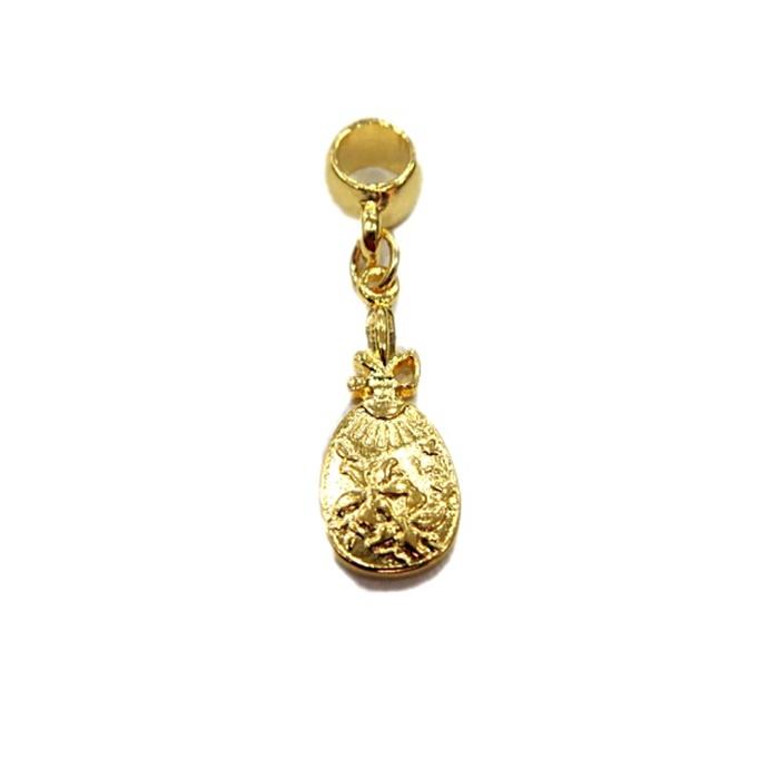 Berloque Dourado Espelho BED035