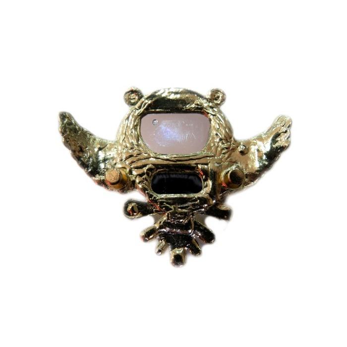 Piercing de chinelo Coruja grande dourada pino (Par)- PID068