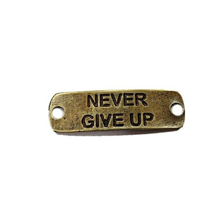 Entremeio Ouro Velho Placa (Never Give Up) EO024