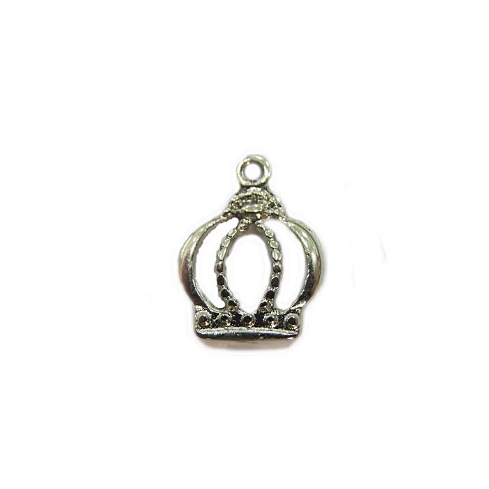 Pingente Coroa II níquel (10 unidades)- PTN058