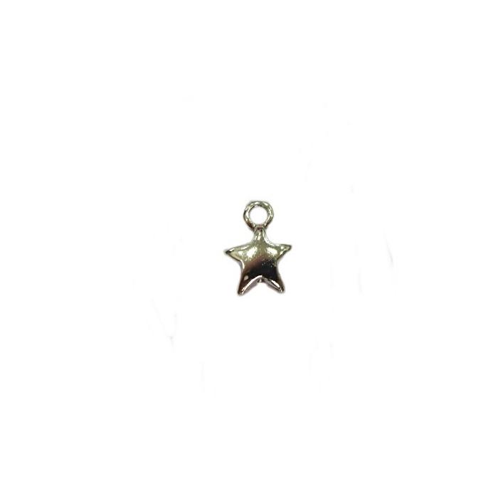Pingente Estrela níquel (10 unidades)- PTN080