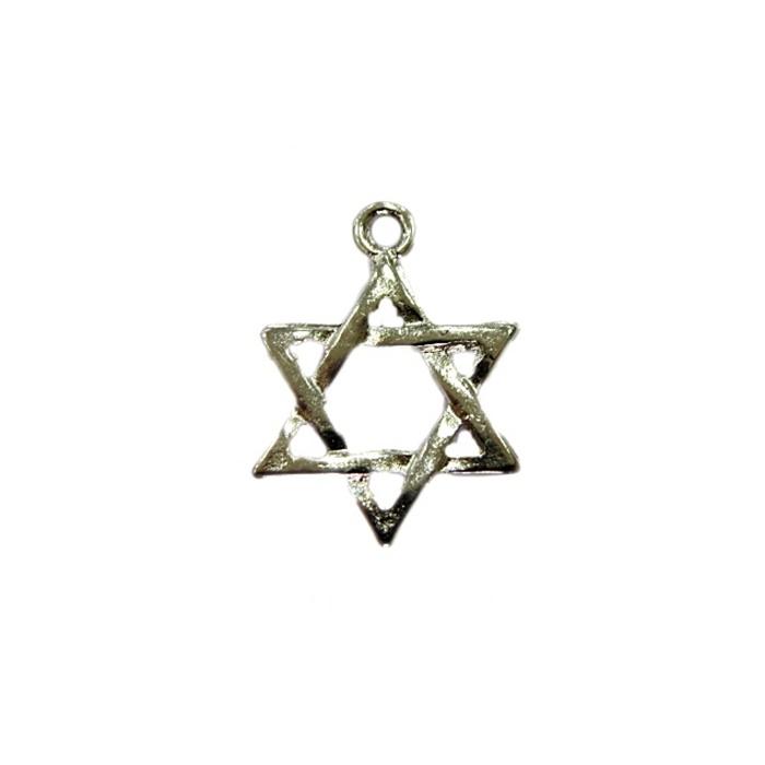 Pingente Estrela de Davi níquel grande (10 unidades)- PTN089