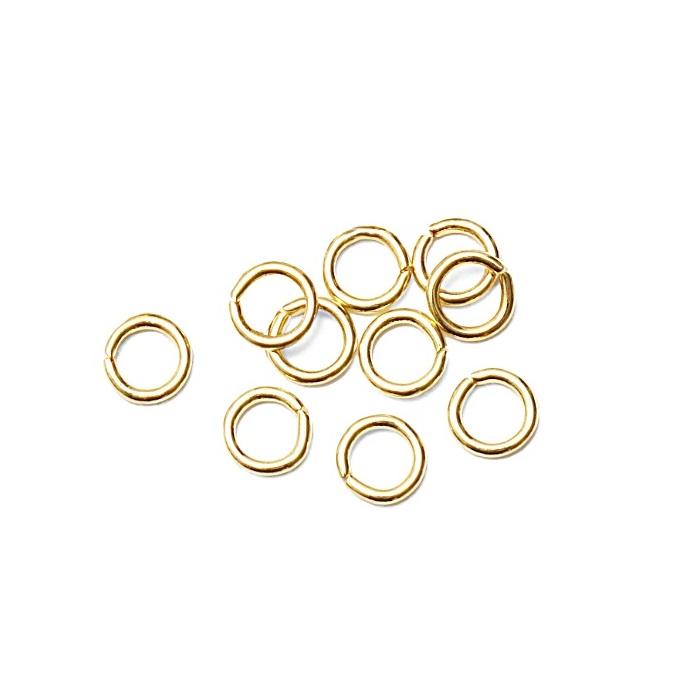Argolinha Latão dourada Nº 04/ Nº 05/ Nº 06 ou Nº 07 (25 gramas)- ALD002
