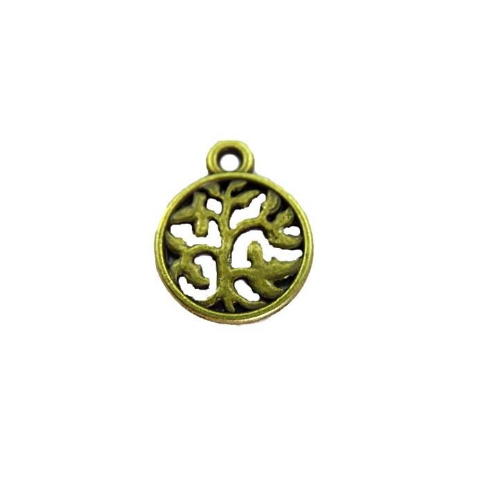 Pingente Medalha ouro velho (10 unidades)- PTO039
