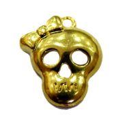 Pingente Caveira I dourada- PTD048