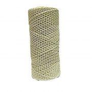 Cordão c/ nylon branco / dourado- CDN009 ATACADO