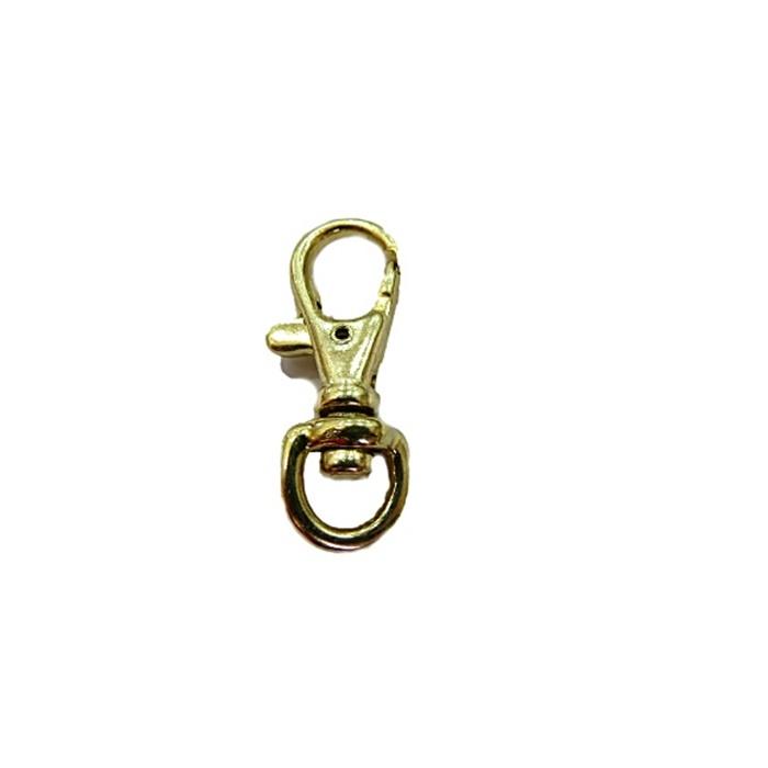 Mosquetão dourado IV (2 unidades)- MD004