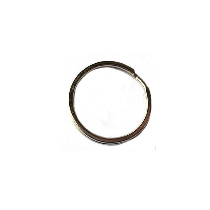 Argola de chaveiro lisa achatada níquel (20 unidades)- ARN004