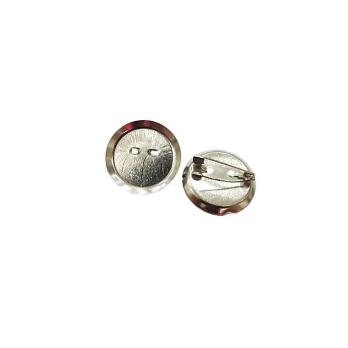 Base de broche pequena concava níquel- BRN001