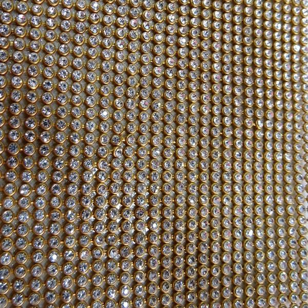 Manta de strass dourada- MS001