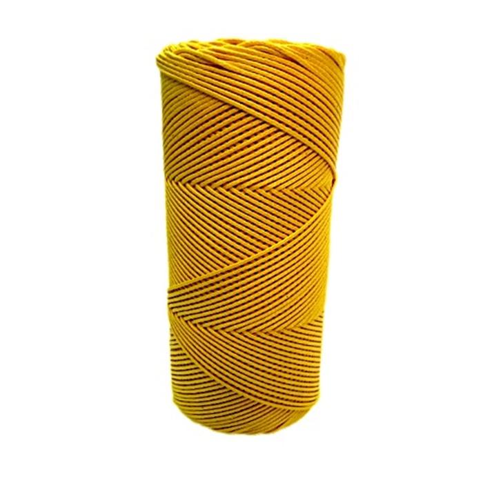 Cord�o encerado fino ouro  (3318) 10mts- CDF024