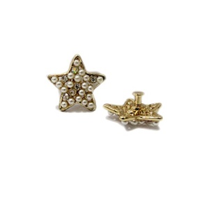 Piercing Estrela Dourada c/ pérola (Par)- PID011