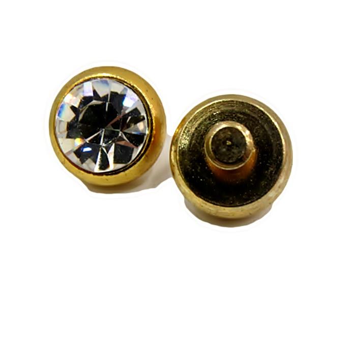 Piercing Ponto de luz grande dourado (par)- PID035