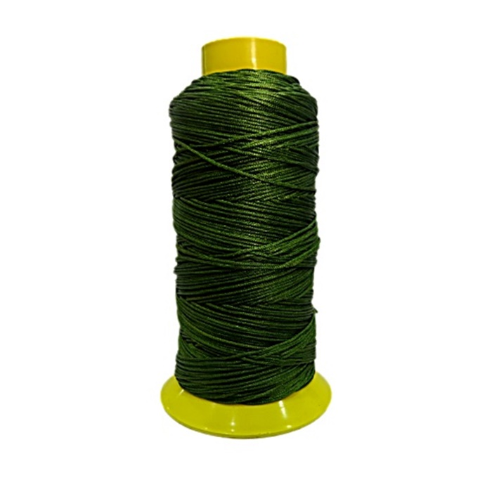 Cordão de seda fino verde musgo- FS007 ATACADO