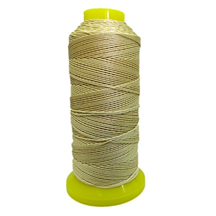 Cordão de seda fino bege- FS012 ATACADO
