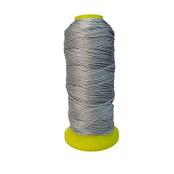Cordão de seda fino cinza (10mts)- FS015