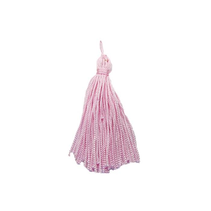 Pingente de seda rosa bebe (10 unid.)- FRAN005