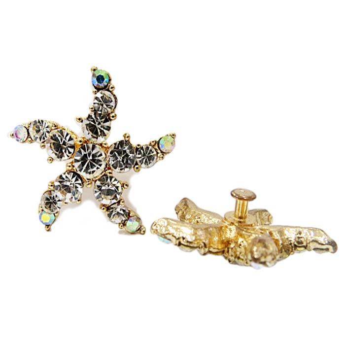 Piercing Estrela do mar dourada (Par)-PID010