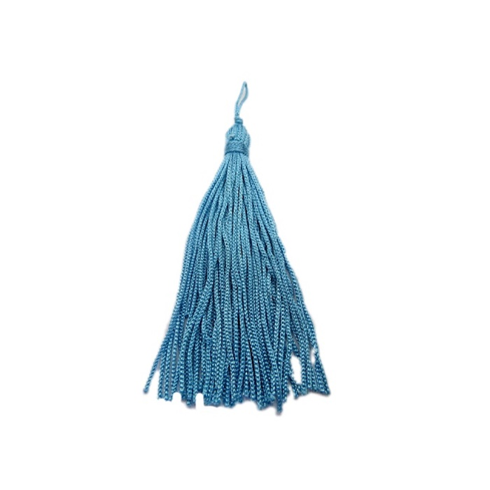 Pingente de seda azul turquesa (10 unid.)- FRAN007