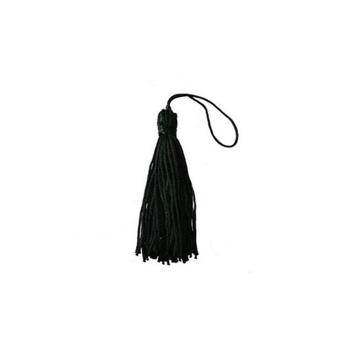 Pingente de seda preto (100 unid.)- FRAN012 ATACADO