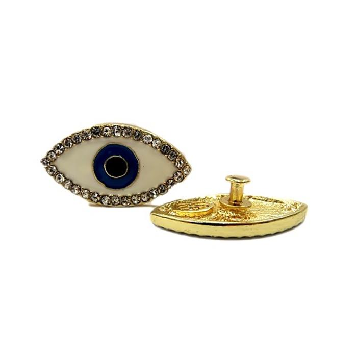 Piercing Olho grego dourado (Par)- PID027