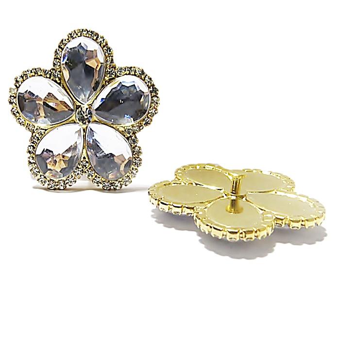 Piercing Flor III Grande dourada (Par)- PID 015