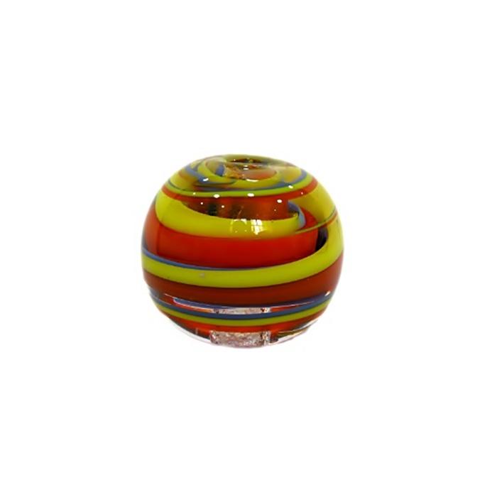 Bola de murano GG amarelo/ azul/ laranja- MU006