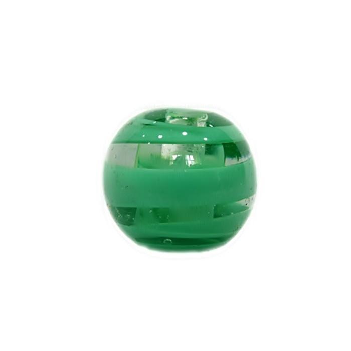 Bola de murano GG verde médio- MU028