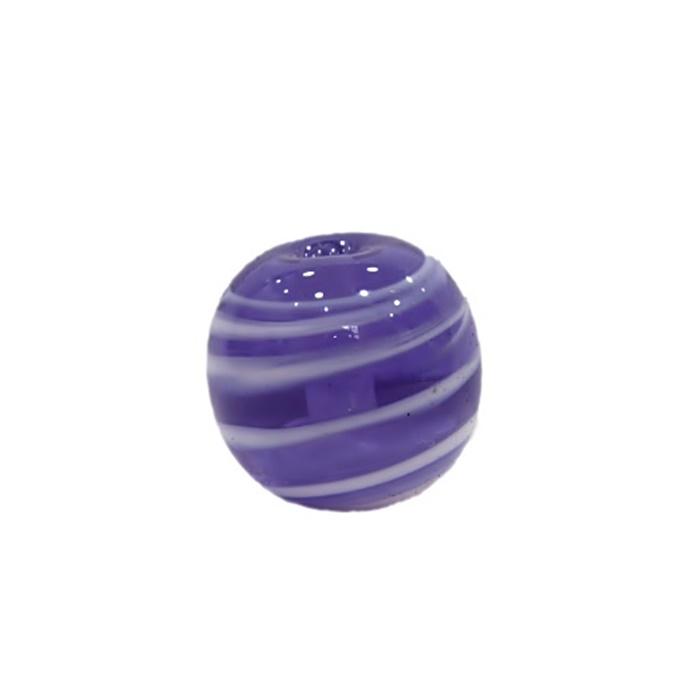 Bola de murano G  anil/ branco- MU044