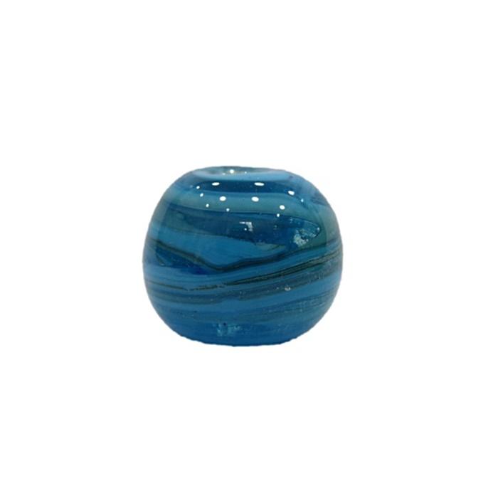 Bola de murano G azul turquesa- MU074