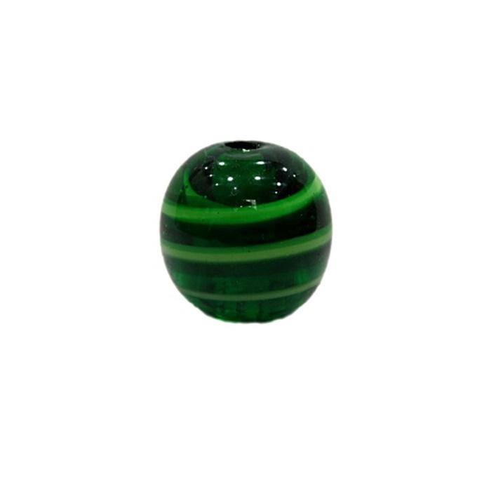 Bola de murano G verde/ branco- MU079