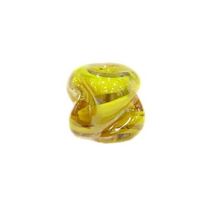 Meteoro de murano GG  amarelo irisado- MU178