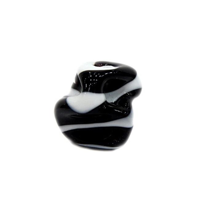 Meteoro de murano GG preto/ branco- MU207
