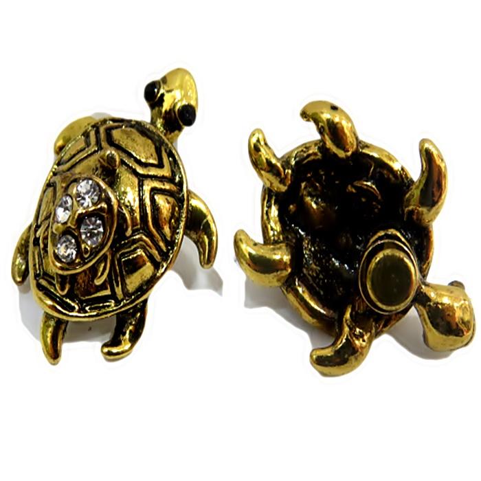 Piercing Tartaruga c/ filhote dourado envelhecido (Par)- PID043