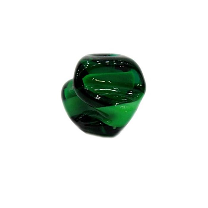 Meteoro de murano GG verde/ branco- MU226