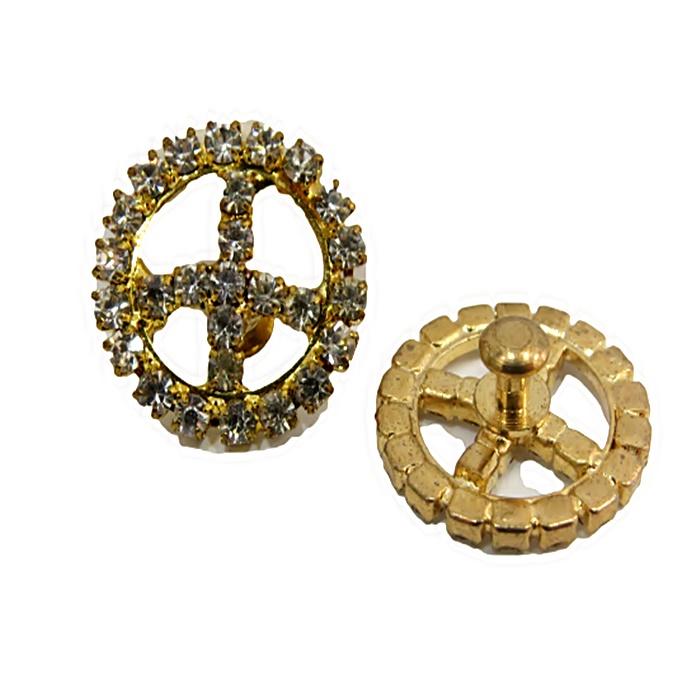 Piercing Paz e amor dourado (Par)- PID032