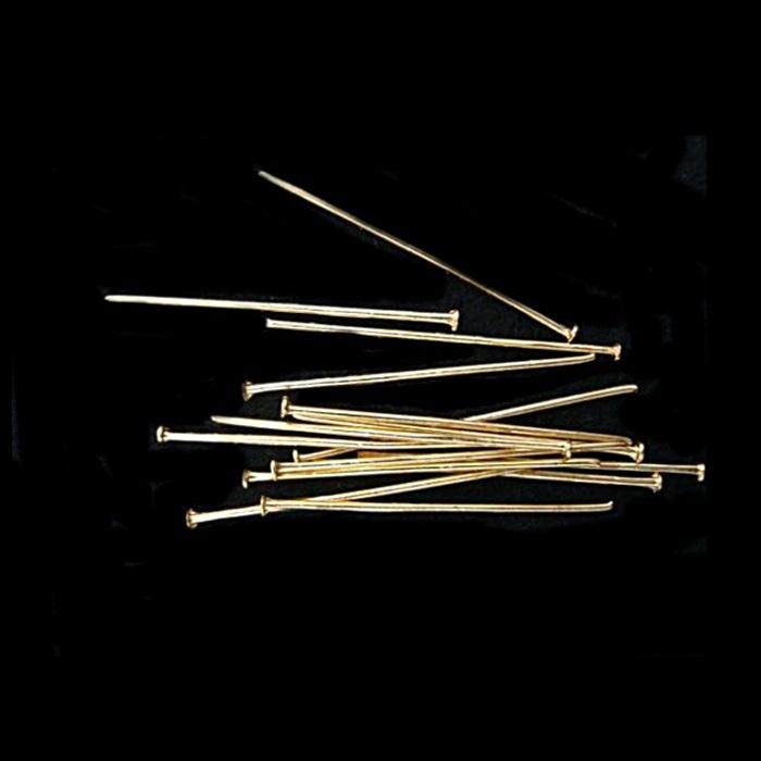Alfinete latão Dourado Nº 20mm/ Nº 30mm ou Nº 50mm (500 gramas)- AFLD002 ATACADO