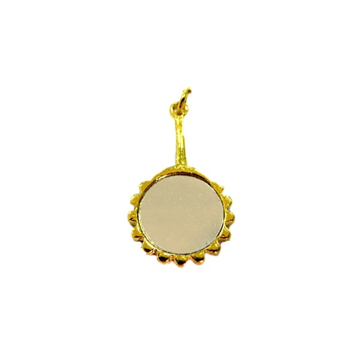 Pingente ferramenta espelho orixá dourado- PFD008