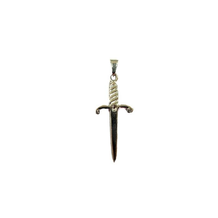 Pingente ferramenta adaga orixá níquel- PFN010