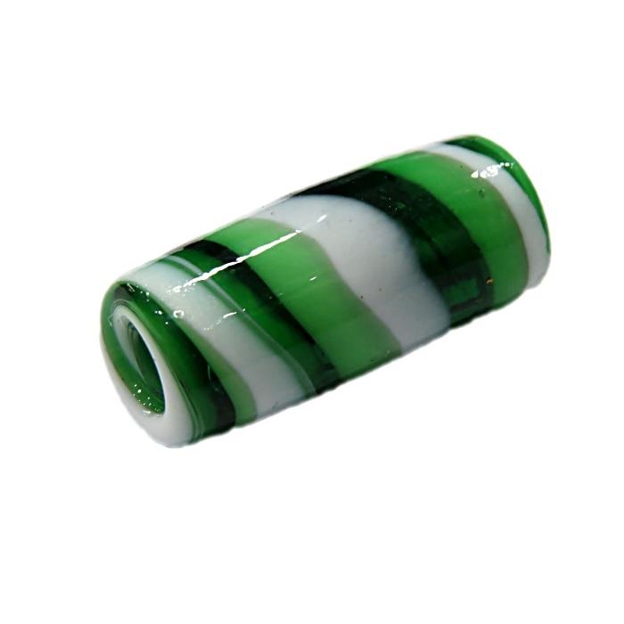 Firma de murano verde escuro\ branco- FM036