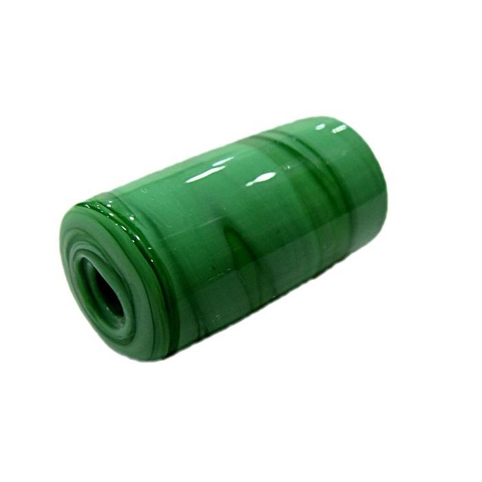 Firma de murano GG verde leitoso escuro- FM119