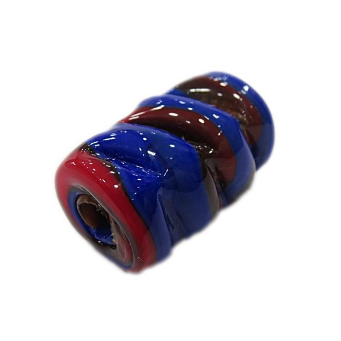 Firma de murano mola GG azul royal\ vermelho- FM147