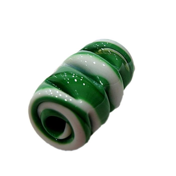 Firma de murano mola GG verde\ branco- FM153